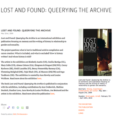 Lost and Found homepage